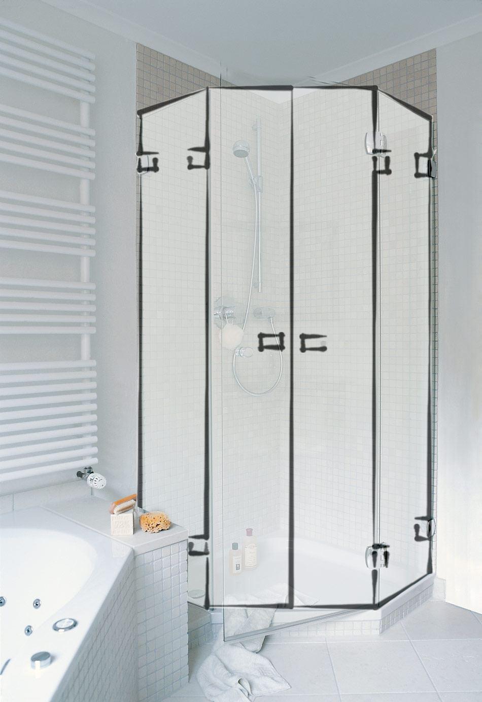 type r5 rund und 135 duschen glas dusche glasdusche duschen nach ma. Black Bedroom Furniture Sets. Home Design Ideas